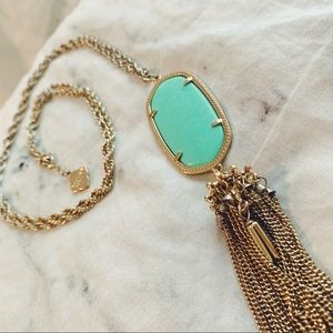 Kendra Scott Rayne Necklace in Mint Green